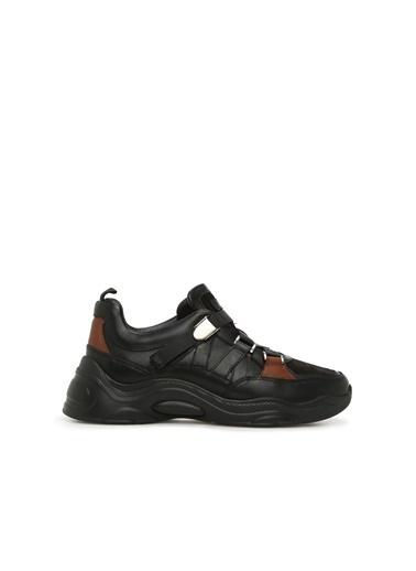 NetWork 1076961 Kadın Deri Sneaker Siyah